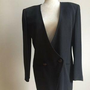 Escada by Margaretha Ley Vntg black jacket Medium